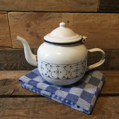 emaille bl-saks theepot