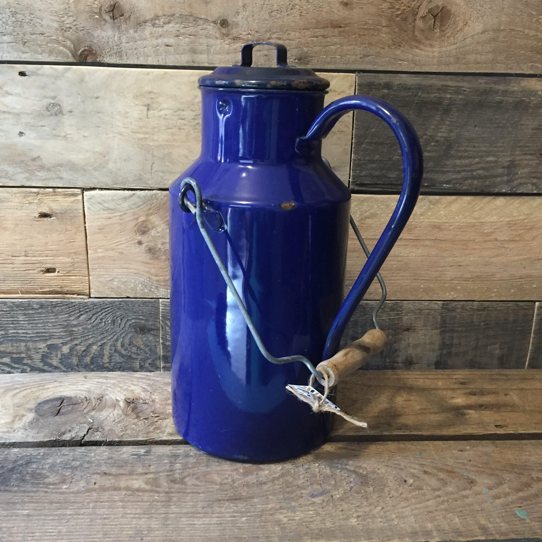 emaille kobaltblauw www.queensbrocanteboutique.nl brocantewebshop webshop brocantebrabant vintagebrabant