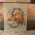 borduurpatroon hert handwerk webshop www.queensbrocanteboutique.nl