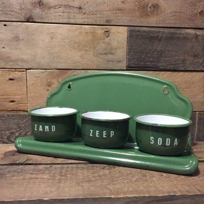 emaille zand-zeep-soda groen goudenbies
