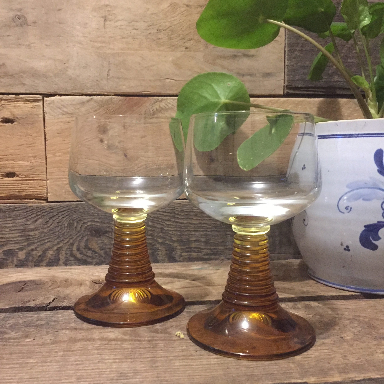 www.queensbrocanteboutique.nl brocantebrabant vintage glas wijnglas vintageglazen